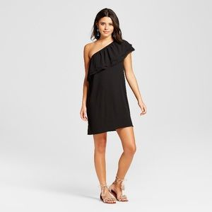 NWT Black One Shoulder Dress